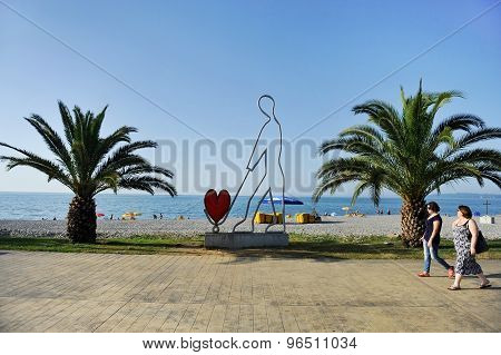 Seaside Scene In Batumi