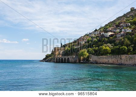 View Of Peninsula In Alanya Bay