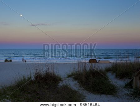 Beach at Hilton Head Island, South Carolina at dusk