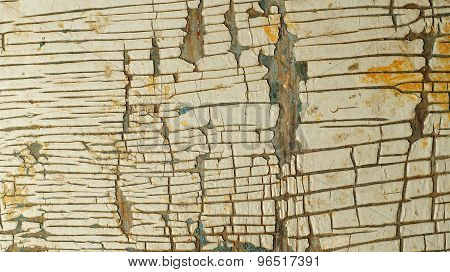Wood surface with cracked paint