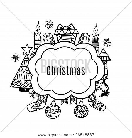 Christmas Banner Sketch Set Vectordesign Illustration.