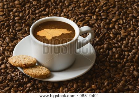 Still Life - Coffee With Map Of Honduras