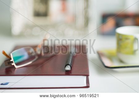 Office Desk Blurred Background
