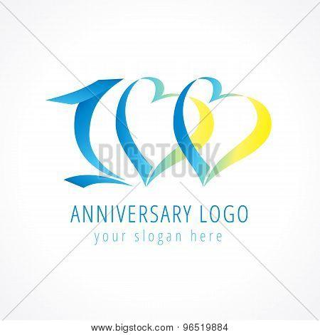 100 anniversary logo