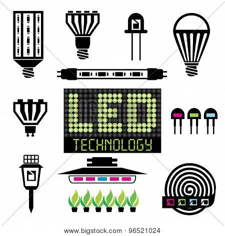 Led Lighting Icons