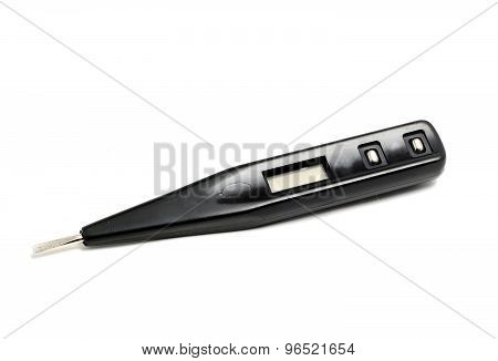 Small Voltage Indication In The Form Of A Screwdriver On A White Background