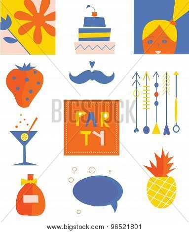 Party Icons Funny Set