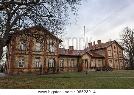 Historic post office building in Aleksandrow Kujawski, Poland