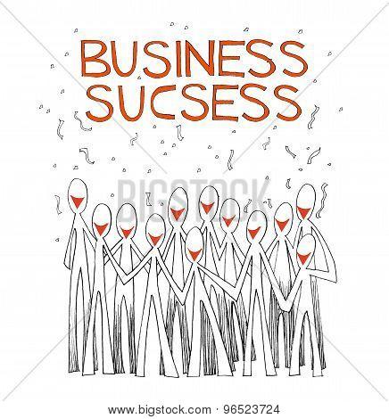 Business Success Team White