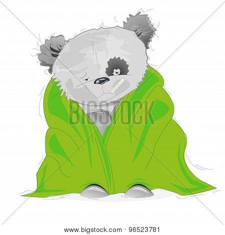 Illustration of sick bear