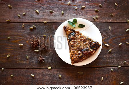 Vegetarian Nut Pie And  Spices