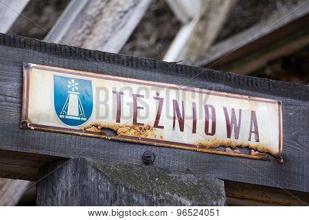 Tezniowa Street in Ciechocinek, Poland