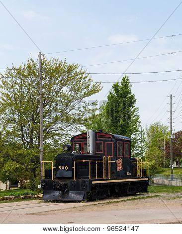 Old Locomotive In Gananoque