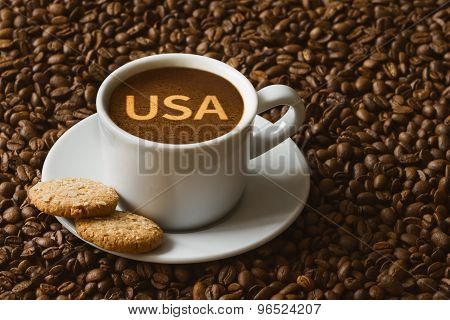 Still Life - Coffee With Text Usa