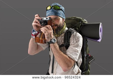 tourist with camera