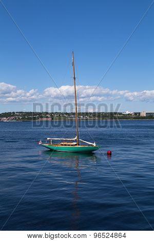 Boat Docked At Halifax Waterfront