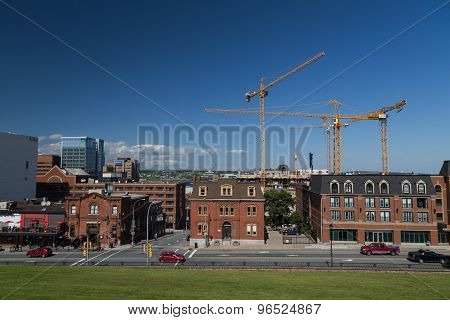 Buildings Along Brunswick Street In Halifax