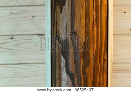 Wooden Background From Pine And Oak