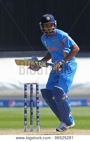 CARDIFF, WALES - June 04 2013: India's Rohit Sharma during the ICC Champions Trophy warm up match between India and Australia at the Cardiff Wales Stadium on June 04, 2013 in Cardiff, Wales