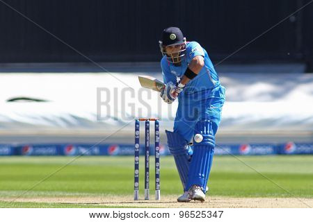 CARDIFF, WALES - June 04 2013: India's Virat Kohli during the ICC Champions Trophy warm up match between India and Australia at the Cardiff Wales Stadium on June 04, 2013 in Cardiff, Wales