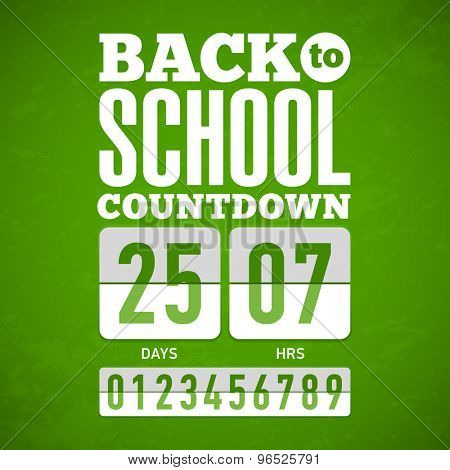 Back to School countdown. Vector.