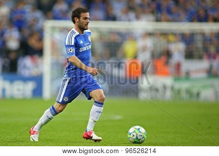 MUNICH, GERMANY May 19 2012. Chelsea's Spanish midfielder Juan Mata in action during the 2012 UEFA Champions League Final at the Allianz Arena Munich contested by Chelsea and Bayern Munich