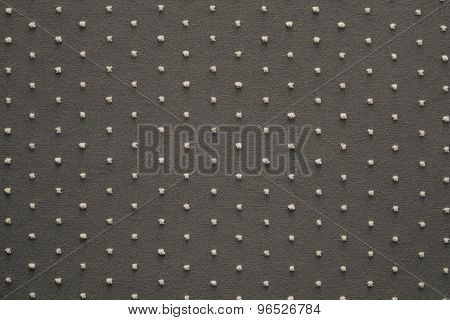 Knitted Fabric Of Dark Beige Color With Fluffy Blond Specks