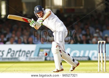 LONDON, ENGLAND. AUGUST 17 2012 England's Jonny Bairstow during the third Investec cricket  test match between England and South Africa, at Lords Cricket Ground