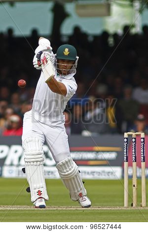 LONDON, ENGLAND. AUGUST 16 2012 South Africa's Jean-Paul Duminy batting during the third Investec cricket  test match between England and South Africa, at Lords Cricket Ground