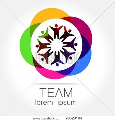 Team logo template. Social media marketing idea. Corporate symbol. Social network.The symbol of community and association.