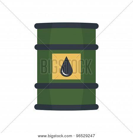 Barrel oil vector.