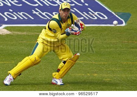 CHESTER LE STREET, ENGLAND. JULY 07 2012: Australia's Matthew Wade, during the 4th one day international between England and Australia