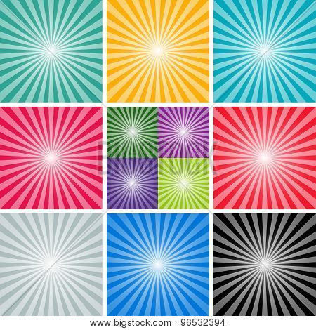 set background of the sun and the sun's rays. vector illustration eps10