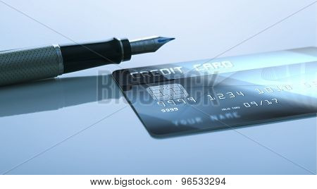 Pen and credit card