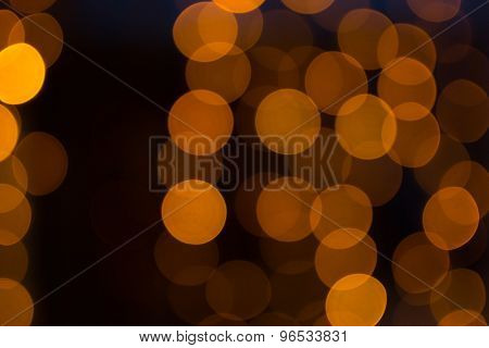 Orange Light Effect Background At Night