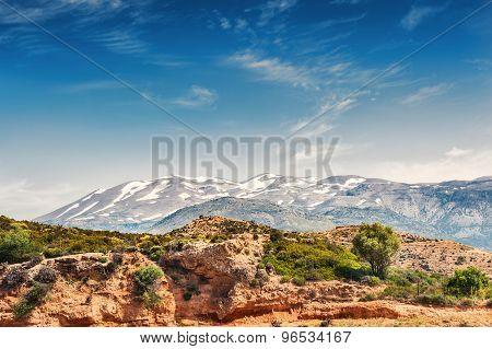 Mountains On The Crete Island, Greece.