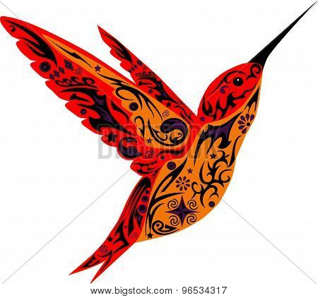 Humming-bird, red color