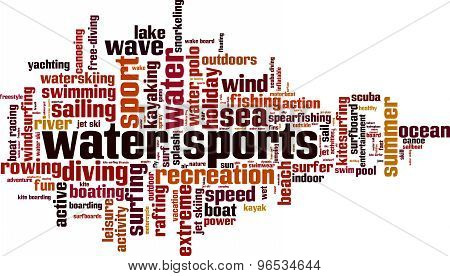 Water Sports Word Cloud
