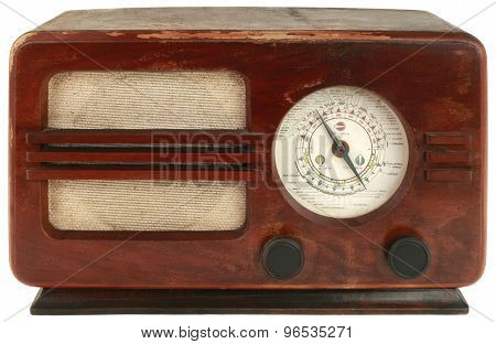 Old Wooden Tuner Isolated with Clipping Path