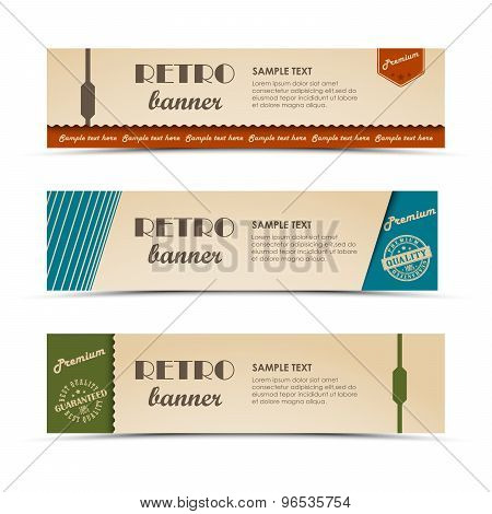 Collection Retro Horizontal Banners Template