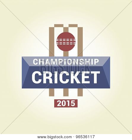 Vector logo template championship cricket.