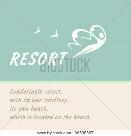 Vector logo of the resort.