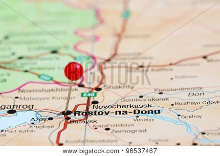 Rostov na Donu on a map of europe