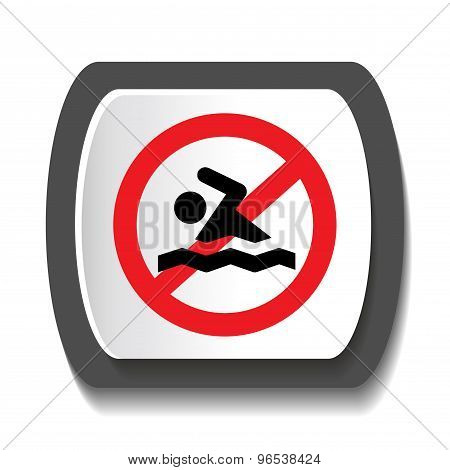 Icon prohibiting swimming