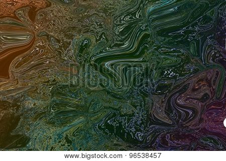 Psychedelic colourful waves background