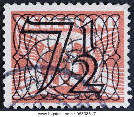 Vitage postage stamp - isolated on black