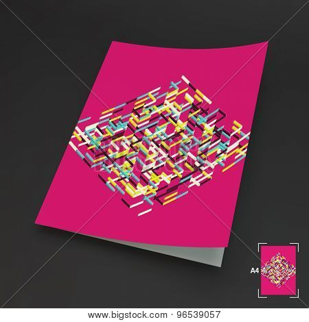 A4 Business Blank. Abstract Vector Illustration. Can Be Used For Advertising, Marketing, Presentation.