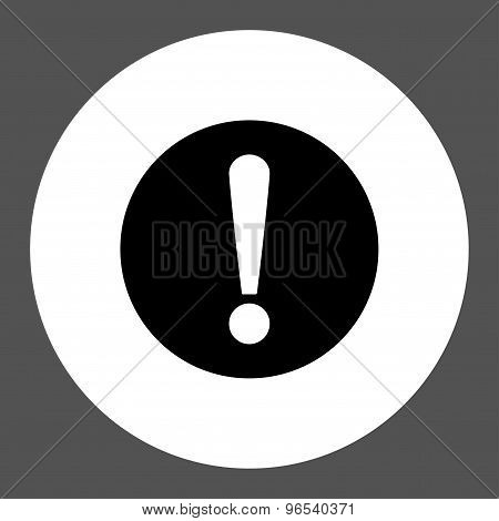Problem flat black and white colors round button