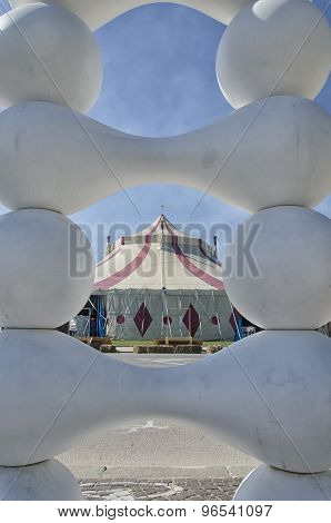 Circus Tent Through An Artwork