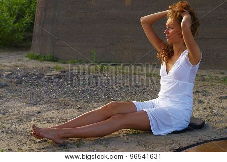 Attractive woman on beach